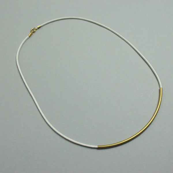 Brass & Cotton Minimal Necklace