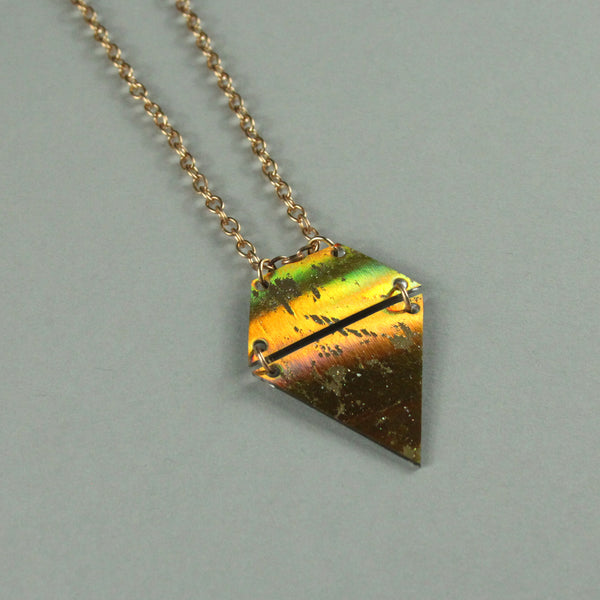 Mini Pendant - holographic gold