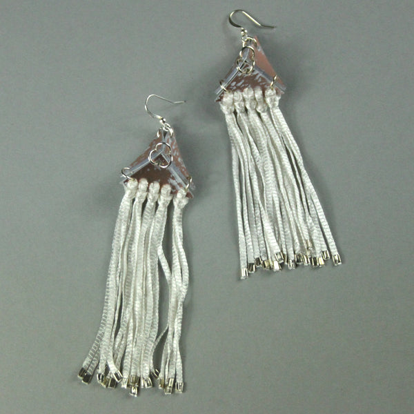 Pyramid Tassel Earrings - Copper