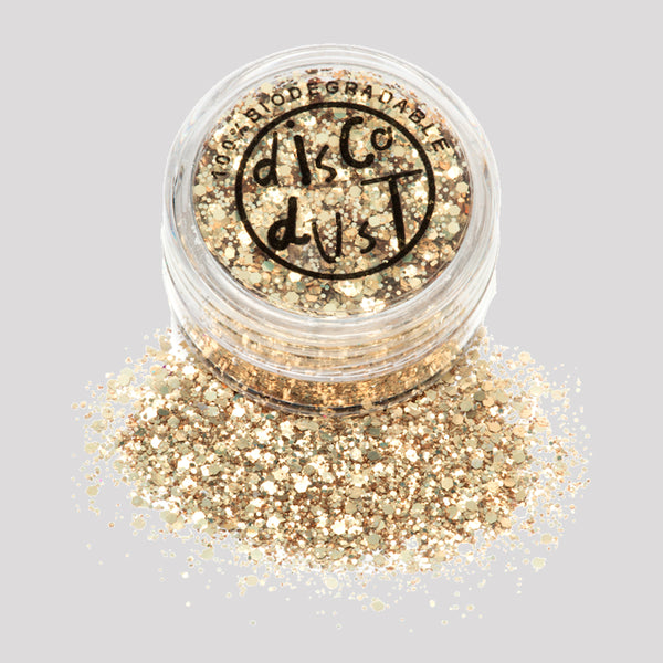 Biodegradable Glitter - Gold Chunky 3g pot