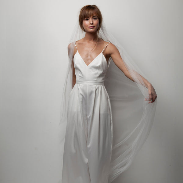 Minimal Veil- Floor Length Soft Tulle