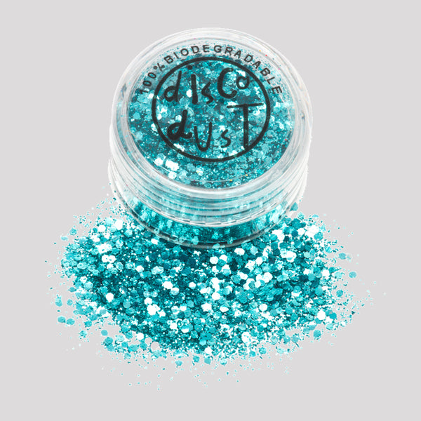 Biodegradable Glitter - Turquoise Chunky 3g pot