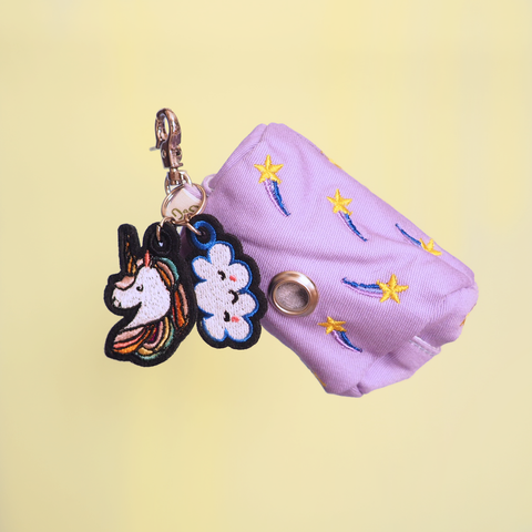 Unicorn Dream Wastebag Holder with Leash