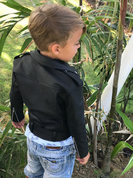 Kids Boys Biker Jacket - The Happiness Journey