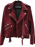 Suede Liberty Biker |  Maroon - The Happiness Journey