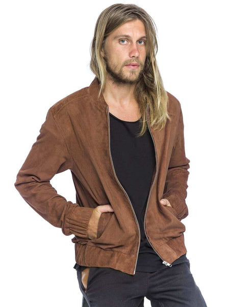 Fitz Suede Jacket | Tan - The Happiness Journey