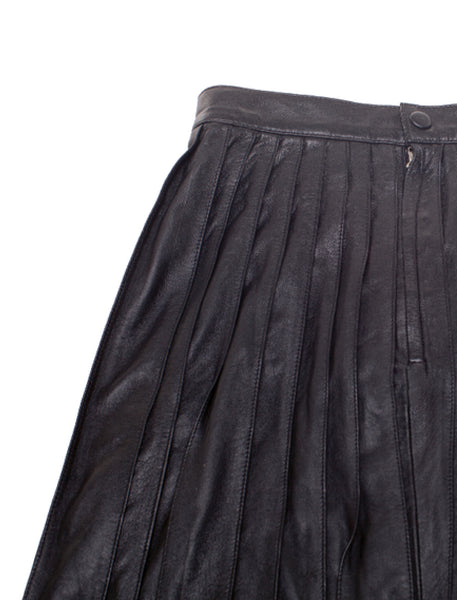 Debbie Pleated Skirt | Black - The Happiness Journey