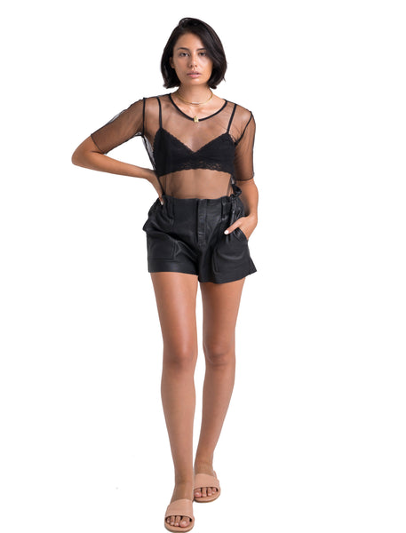 Paper Bag Shorts | Black - The Happiness Journey