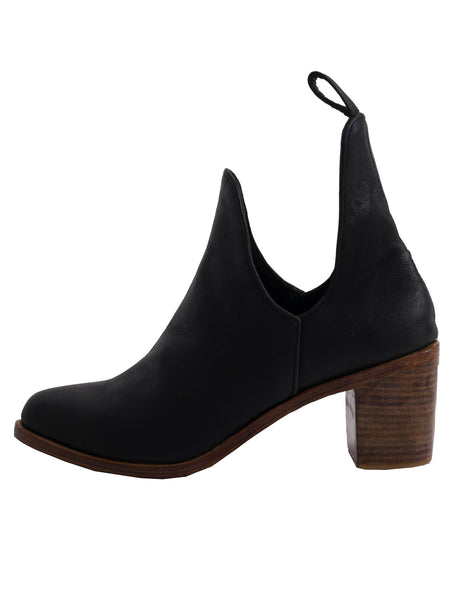 Giselle Leather Ankle Boots | Black - The Happiness Journey