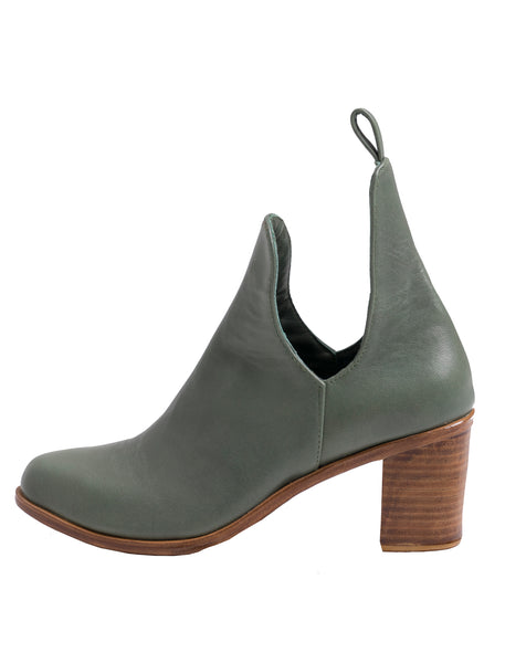 Giselle Leather Ankle Boots | Sage - The Happiness Journey