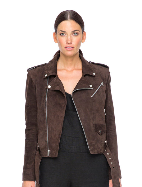 Suede Liberty Biker |  Chocolate Brown - The Happiness Journey
