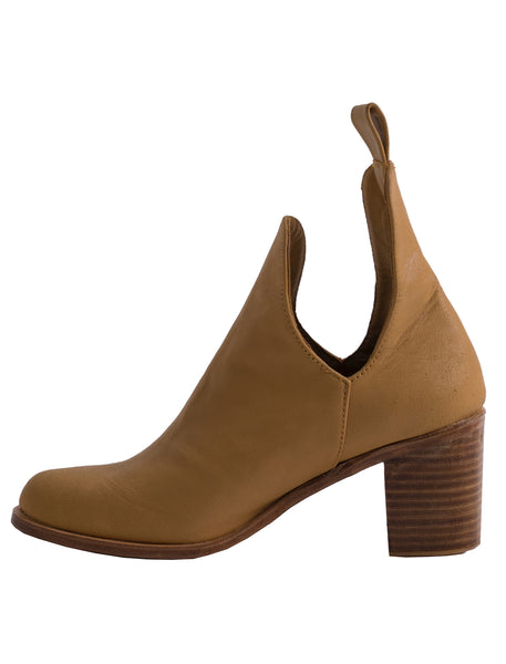 Giselle Leather Ankle Boot | Toffee - The Happiness Journey