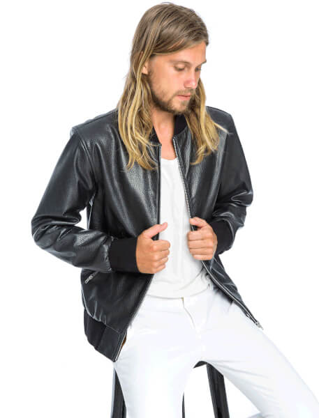 Marty Bomber Jacket | Black - The Happiness Journey