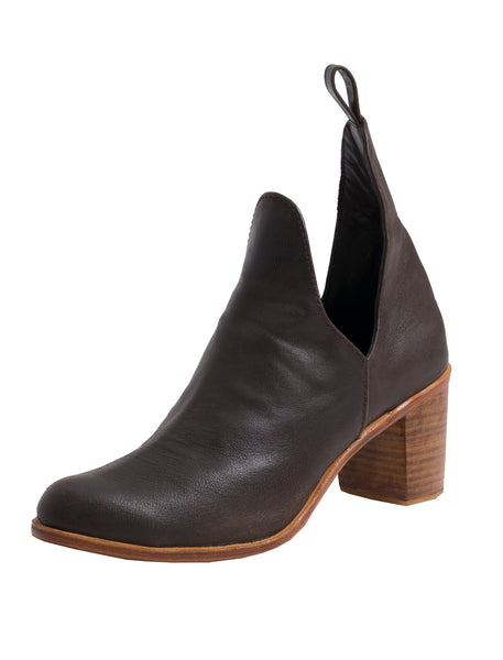 Giselle Leather Ankle Boots | Espresso - The Happiness Journey