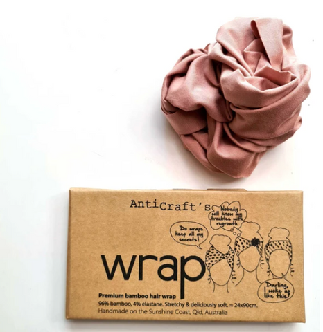 Stretchy Premium Bamboo Head Wrap - Blush Pink by ANTICRAFT