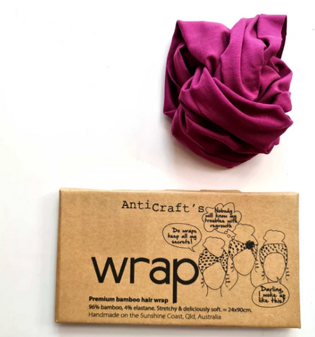 Stretchy Premium Bamboo Head Wrap - Boysenberry Purple by ANTICRAFT