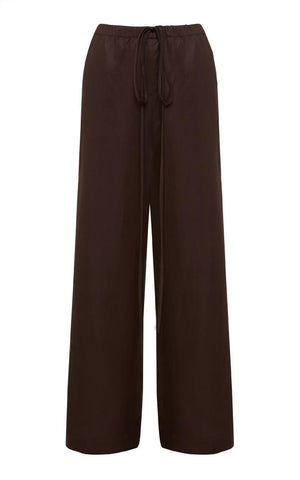 Fluid Drawstring Pant - Chocolate - Pre Order