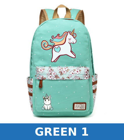 unicorn Dab cartoon Backpack