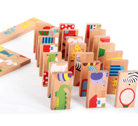 Animal Dominoes Wooden Puzzle