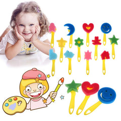 12pcs Pattern Colored Child Painting Brush