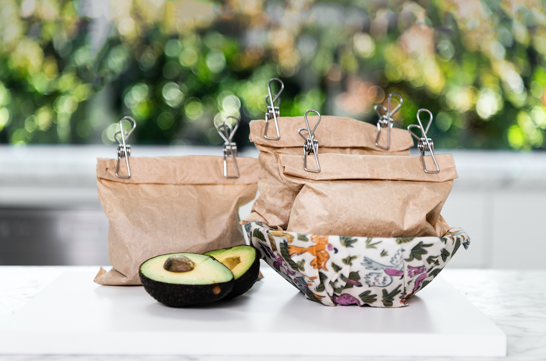 Bowls with bees wraps wraps
