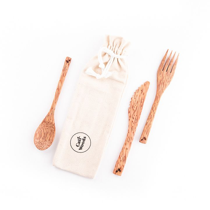 CaliWoods Coconut Cutlery Pack
