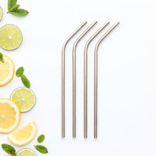 CaliWoods Reusable Stainless Steel Bent Drinking Straws