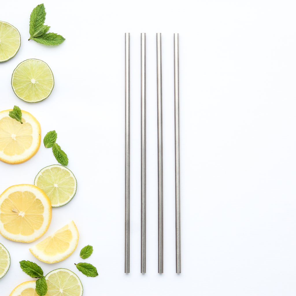 CaliWoods Reusable Stainless Steel Tall Straws