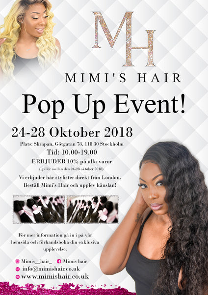 Mimi's hair pop-up shop