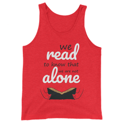 We are not alone men tank top design