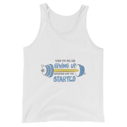 Never Give Up men tank top design