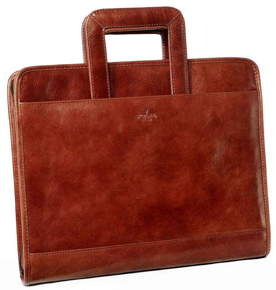 Babila Leather Folio With Retractable Handles 7121li