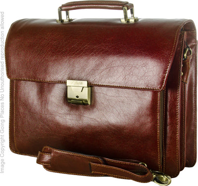 Babila Unisex Leather Briefcase 31364li