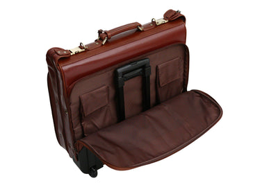 Babila Leather Wheeled Suit Carrier