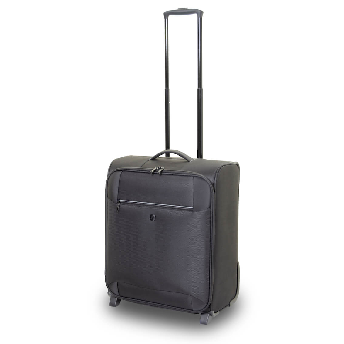 QUBEd Pi 56cm Extra Wide 2-Wheel Upright Cabin Suitcase