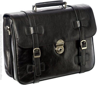 Babila Classic Leather Briefcase 5462li