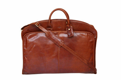 Babila Soft Leather Garment / Suit Carrier