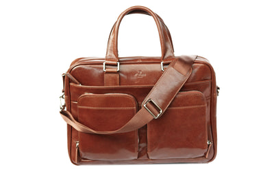 "Babila Leather 15"" Laptop Bag"
