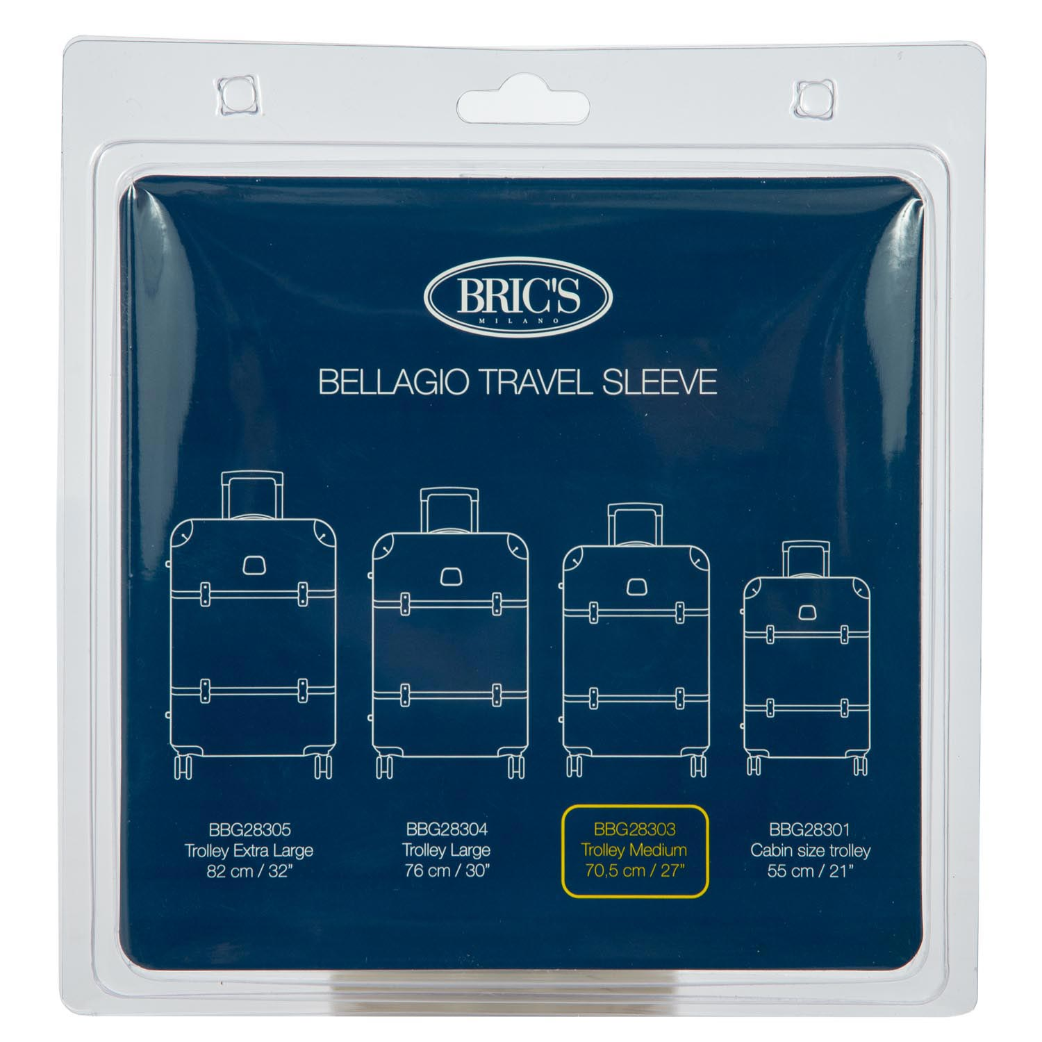 Bric's Bellagio Medium Suitcase Transparent Cover