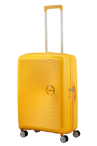 American Tourister Soundbox 67cm Medium 4-Wheel Spinner Expandable Suitcase