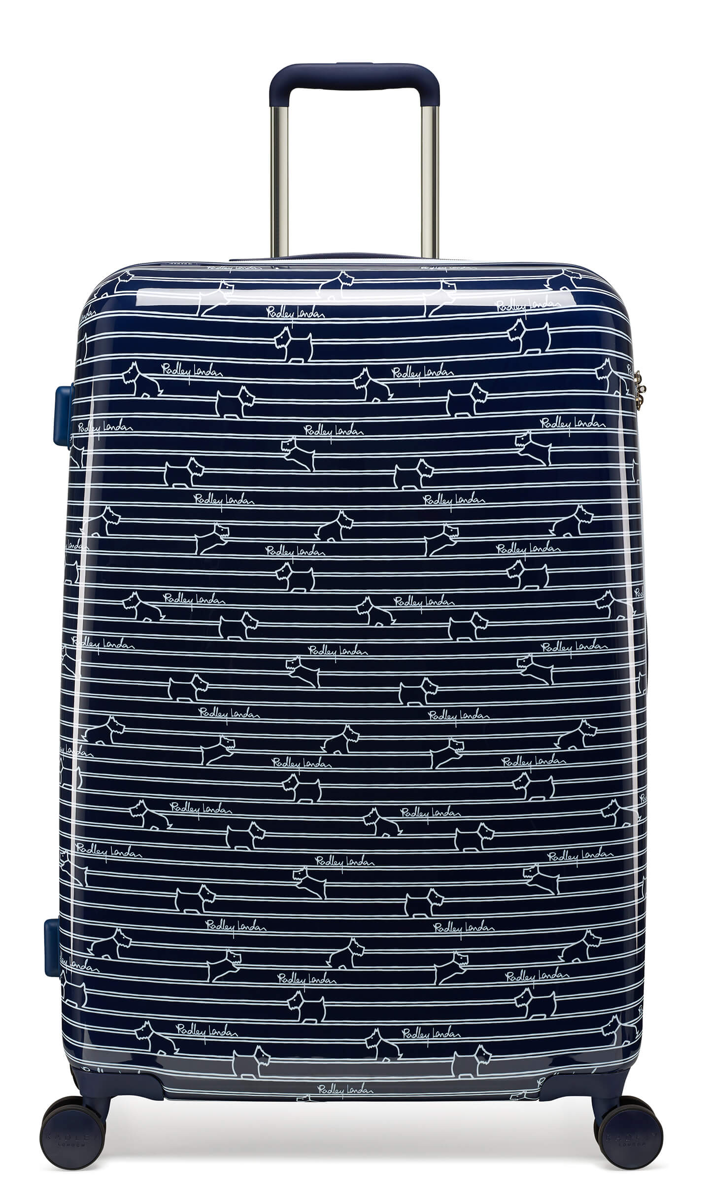 Radley Dog Stripe 76cm Large 4-Wheel Suitcase