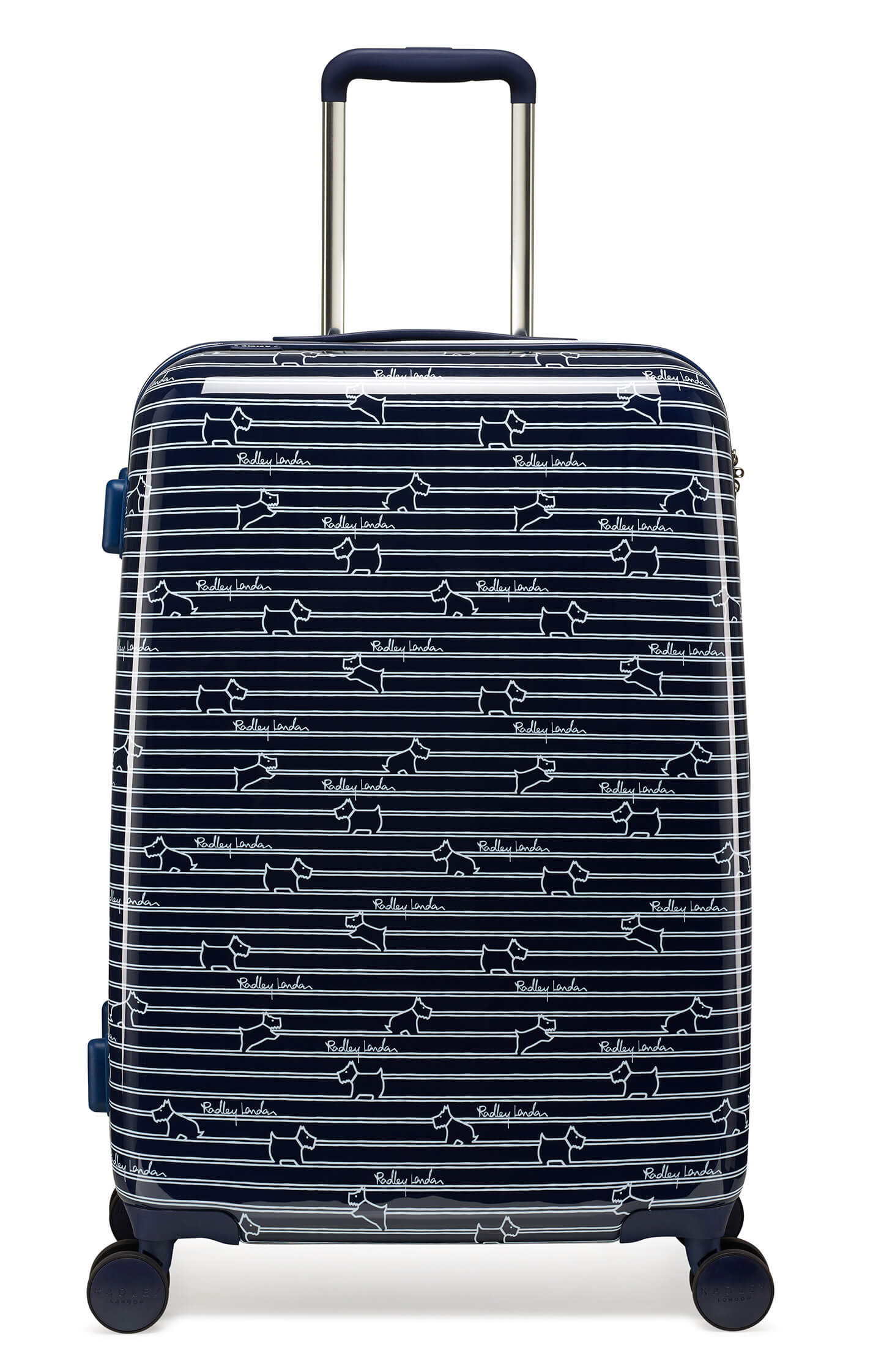 Radley Dog Stripe 68cm Medium 4-Wheel Suitcase
