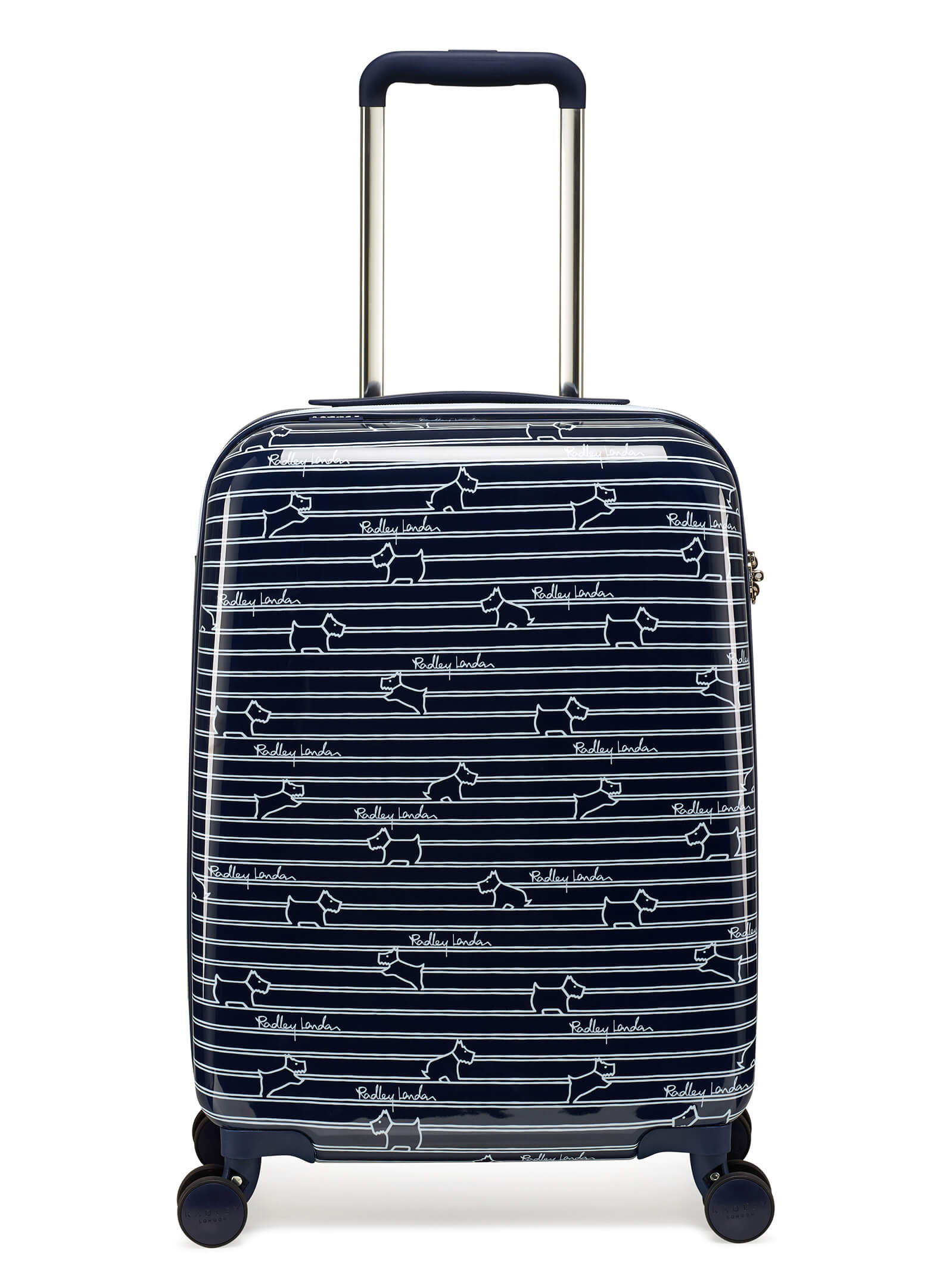 Radley Dog Stripe 52cm 4-Wheel Cabin Case