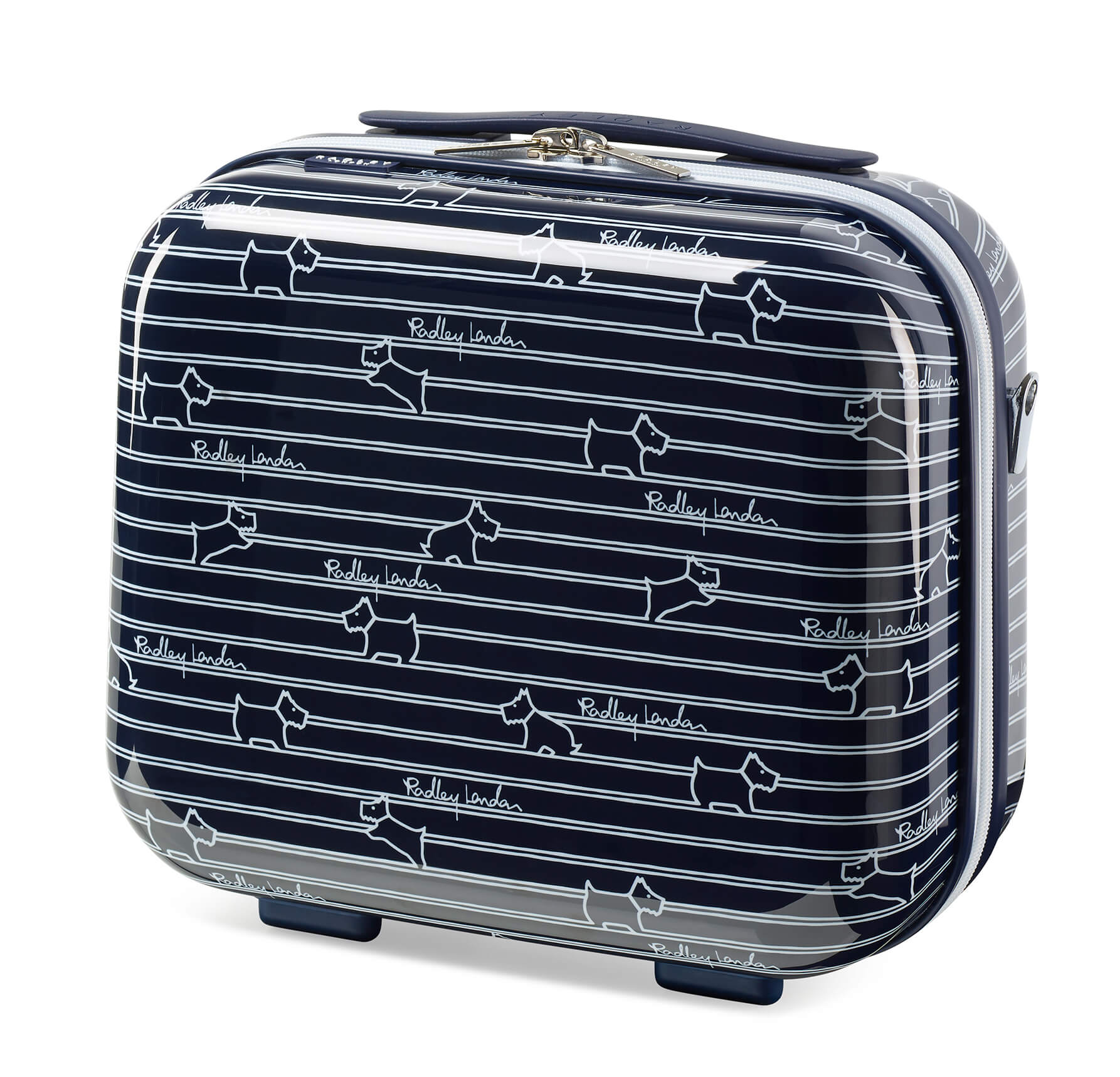 Radley Dog Stripe Vanity Case - Ink Blue