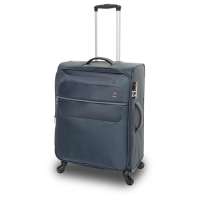 QUBEd Mode 65cm Medium Expandable 4-Wheel Spinner Suitcase