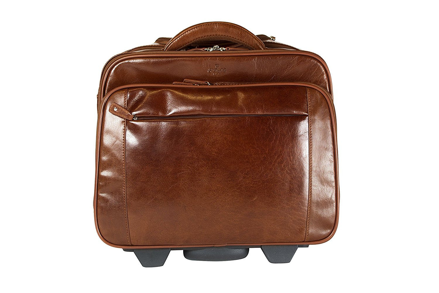Babila leather laptop cabin size trolley briefcase for Cabin bag size