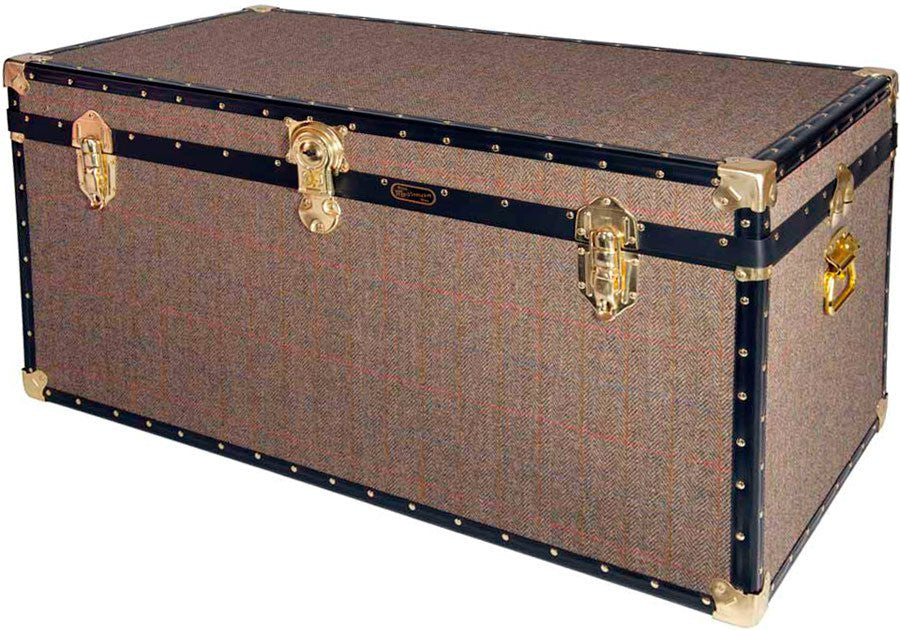 Harris Tweed Queen Size Trunk 40 x 20 x 20