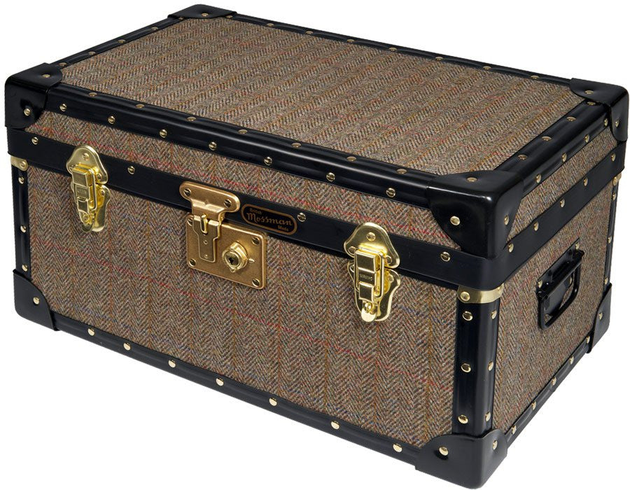 Harris Tweed Tuck Box With Flip Lock