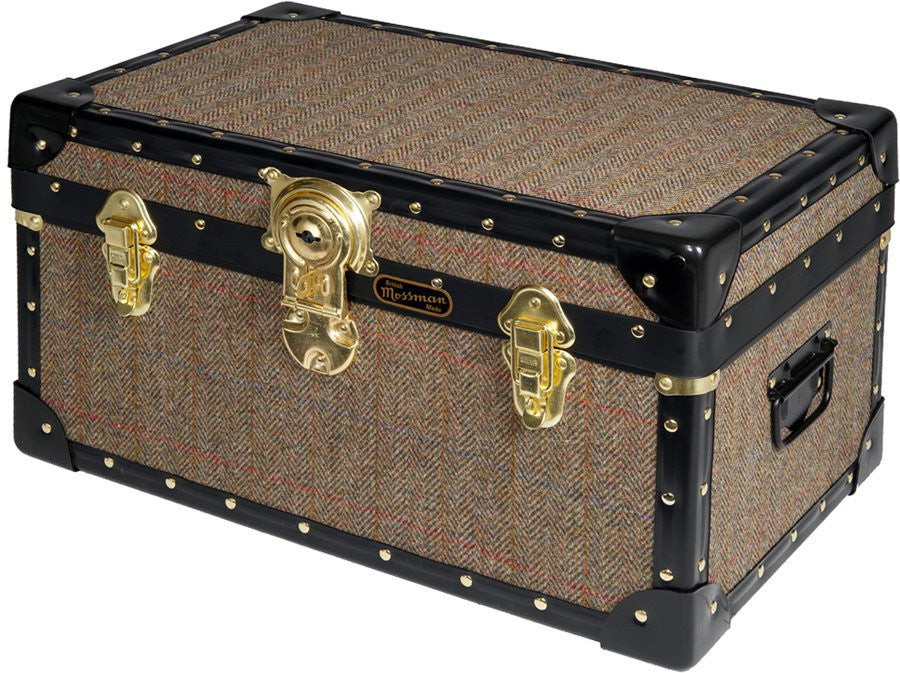 Harris Tweed Tuck Box With Cabin Lock