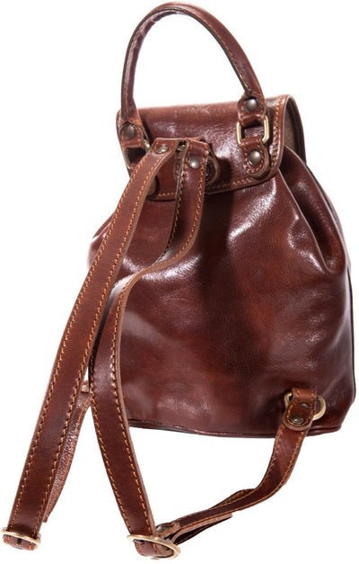 Luciano Fabrini Small Leather Backpack